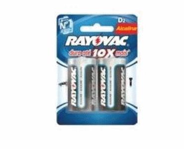 Pilha Rayovac® Alcalina D2 (grande) C/ 2 Unidades